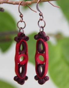 Loops and Circles – More Paper Quilled Earrings