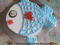 creatur cake, fish cake, cake decor