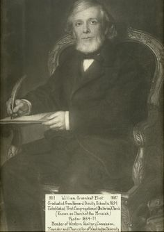 William Greenleaf Eliot (1811-1887). A social reformer as well as minister, William G. Eliot established the first Unitarian church, and was an early advocate of prohibition and of women's suffrage and the education of women. He is possibly best known for founding Washington University in St. Louis. Missouri History Museum