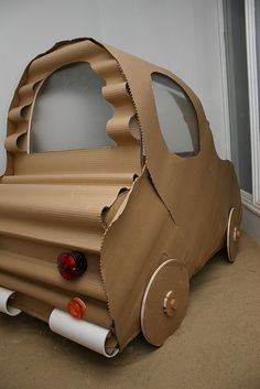"""Cardboard car driven by Stephane in Michel Gondry's """"The Science of Sleep"""""""