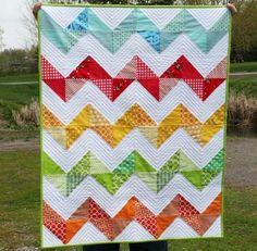 simple chevron pattern quilt. Quilting idea