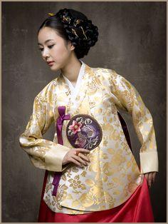 Golden Hanbok - Korean Traditional Dress