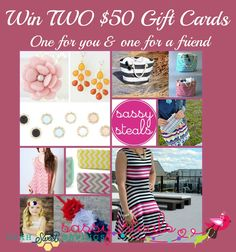 Utah Sweet Savings: Giveaway!  Win TWO $50 Gift Cards to Sassy Steals + 10% off Discount Code!