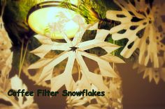 How to Make Coffee Filter Snowflakes | Holiday Crafts for Kids