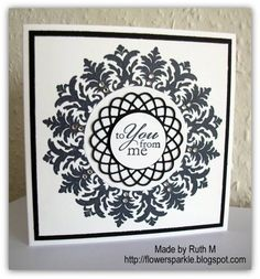 Black and White Medallion To You From Me Card - CFC 36 Challenge by FubsyRuth - Cards and Paper Crafts at Splitcoaststampers