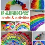 Rainbow Crafts & Activities activities for kids, rainbow crafts, craft activities, rainbows, rainbow activities, craft ideas, kid crafts, themed parties, color crafts