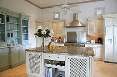 Cute kitchen in this luxury villa in Barbados