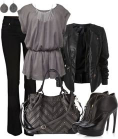 """Studs"" by averbeek ❤ liked on Polyvore"
