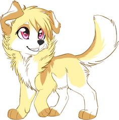 Yellow Anime Wolf Anime Wolves on Pinter...