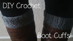 DIY crochet Boot cuffs for fall! :)