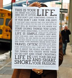 This is your LIFE..