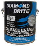 Diamond Brite Oil Base All Purpose Enamel Paint - 12 colors available. Cheaper than latex, resists peeling, no primer needed. Can be ordered at our website below... http://www.decorative-ceramic-tile.net/painting-ceramic-tile.php