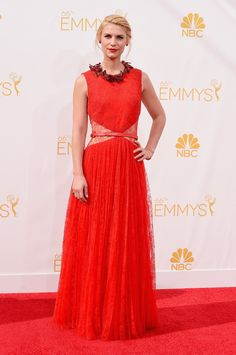 Claire Danes in Givenchy at the Emmys.