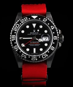 The Pro-Hunter Military Ceramic Red GMT #mode #style #fashion #goodlife #fastlife #lifestyle #gentleman #rolex