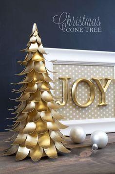 DIY Christmas Cone Tree Tutorial