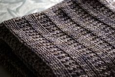 Garter rib baby blanket (free pattern)