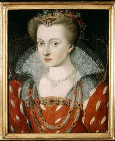 Louise of Lorraine 1553 –1601 - House of Lorraine, Queen consort of France. She 1st caught the eye of her future husband, Henry III, in 1574. He was paying a visit to her cousin, on his way to his new kingdom, & saw Louise whilst he was there. Louise was not only attractive & sweet-natured, but who also resembled the Princess of Condé, Marie de Clèves, whom Henry III was infatuated. He remembered Louise long after he left France. Louise worshipped her husband, who in response fussed over her.