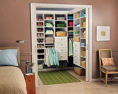 Open walk-in closet
