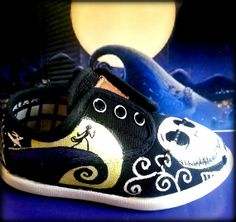 Custom Toddler Shoe Nightmare before Christmas by MommyMoonBlossom, $30.00
