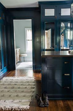 Blue Bedroom, interior, home, decor, decorating, ideas, indigo