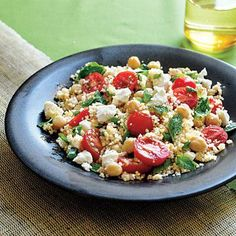 Couscous Salad with Chickpeas | CookingLight.com
