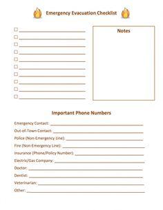 Emergency Evacuation Checklist #list #checklist #emergency