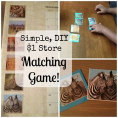 Awesome little DIY matching game that you can make from things you can find at the dollar store.