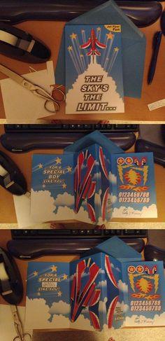 Rocket plane birthday card for boys only (thanks @Magda_Christy and @elakdawalla!)