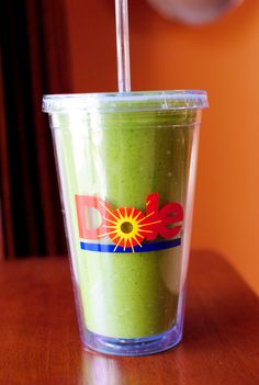 "Another pinner said: I drink one of these everyday!! ""Green Monster Spinach Smoothies are one of my top secret diet weapons, because although they're packed with baby spinach, which make my skin, hair, nails, and overall self feel totally great, they do not taste healthy at all. I repeat, they do not taste healthy at all"""