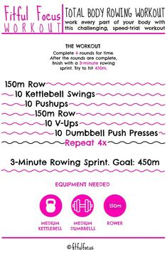 Total Body Rowing Wo