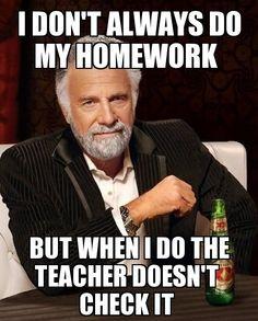 I don do my homework yahoo