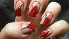 Unzipped Bloody Nails by The Lacquerologist