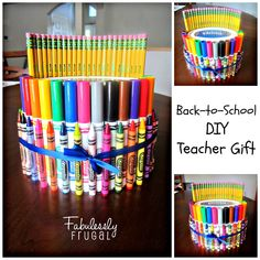 Teachers do so much for our children. I have read that teachers typically put $1,000 per year of their own money into classroom supplies. A practical gift that will benefit the classroom is a great start to the school year.