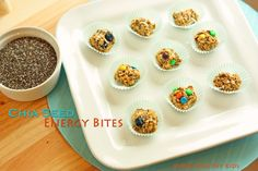 Chia Seed energy bites from Super Healthy Kids #healthyandportable #chiaseeds