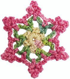 crochet flower ... free on Ravelry