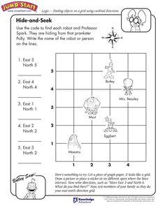 Cardinal Direction Worksheet