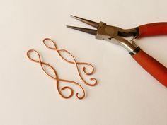 Wire wrap tutorial - earrings