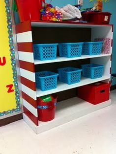 Dr. Seuss inspired bookcase :)