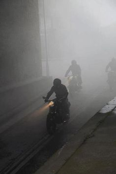 out of the fog... #motorcycle #motorbike