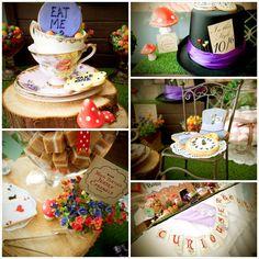 tea parti, alice wonderland party ideas, baby shower ideas, theme parties, alice in wonderland, baby shower mad hatter, wonderland parti, babi shower, aliceinwonderland