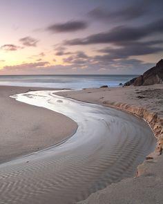River to the sea, Porthcurno, Cornwall, England