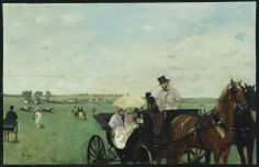 Edgar Degas, At the Races in the Countryside, 1869.