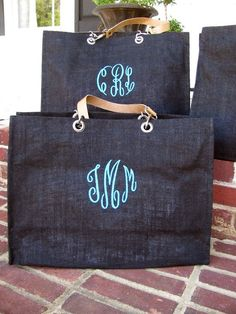 wedding parties, gift bags, bridesmaid gifts, graduation gifts, monogram tote, wedding party gifts