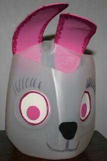 Easter basket from Milk Jugs