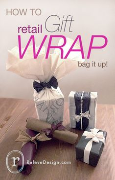 Don't throw away the shopping bags your store bought gifts come in. Use the bags to wrap your gifts without the need for glue, tape, or ribbon.