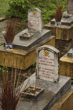 Grave of a young female North Vietnamese soldier