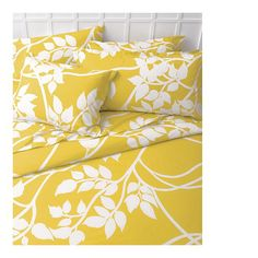 yellow bedding