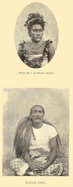 Wife of Samoan Chief