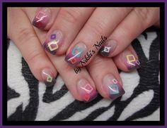 More Shapes by nikkisnails - Nail Art Gallery nailartgallery.nailsmag.com by Nails Magazine www.nailsmag.com #nailart