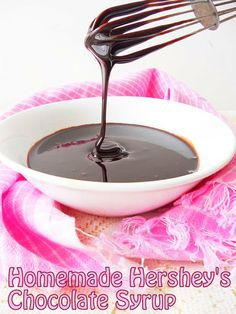 Homemade chocolate syrup...better than Hershey's....step by step.